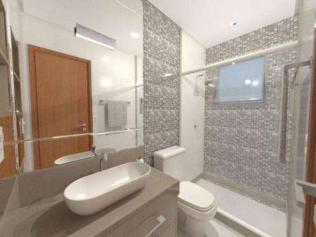 23. Cuba para banheiro oval é uma proposta interessante para ambientes clean. Fonte: Paola Bassani Louzada