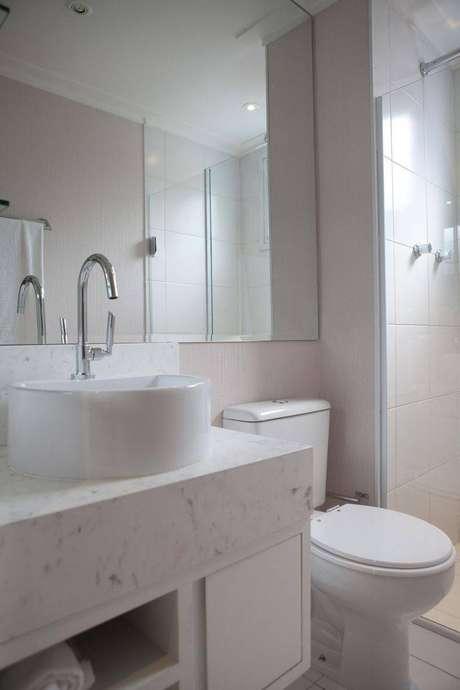 4. Você pode otimizar o espaço com uma cuba para banheiro adequada. Fonte: Grupo Factory