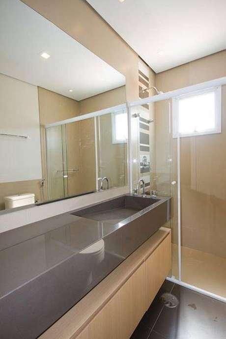28. Cuba para banheiro comdesign muito inteligente para economizar espaço e deixar o ambiente moderno. Fonte: Pinterest