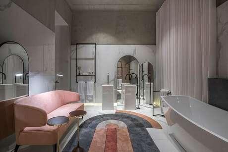 12. Cuba para banheiro de piso encanta a decoração do cômodo. Fonte: Casacor MG 17