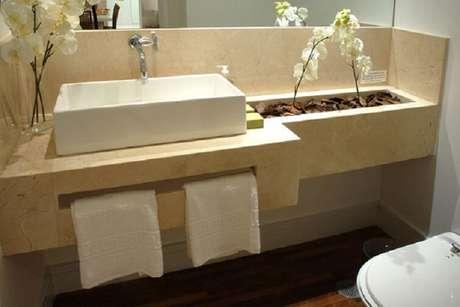 46. As cubas para banheiro são encontradas em diversas cores e tamanhos. Fonte: Pinterest