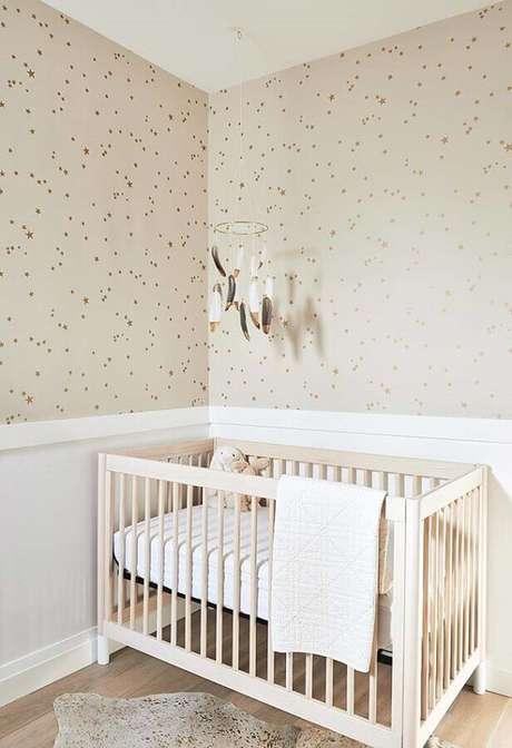 5. O tamanho do quarto influencia na escolha de cores e estampas para o papel de parede para quarto de bebê – Foto: Houzz