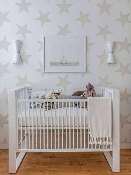 33. Papel de parede para quarto de bebê unissex