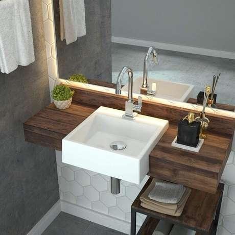 10. Modelo de cuba para banheiro de semi encaixe. Fonte: Madeira Madeira