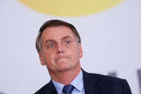 Presidente Jair Bolsonaro em cerimônia que marca os 400 dias do seu governo