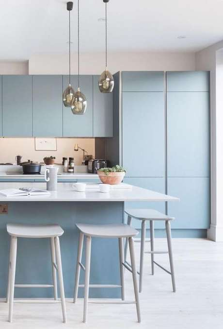 19. Armário de cozinha azul – Via: Archzine