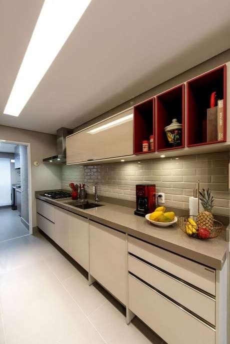 57. Armário de cozinha neutra – Projeto: M Arquitetura e Interiores
