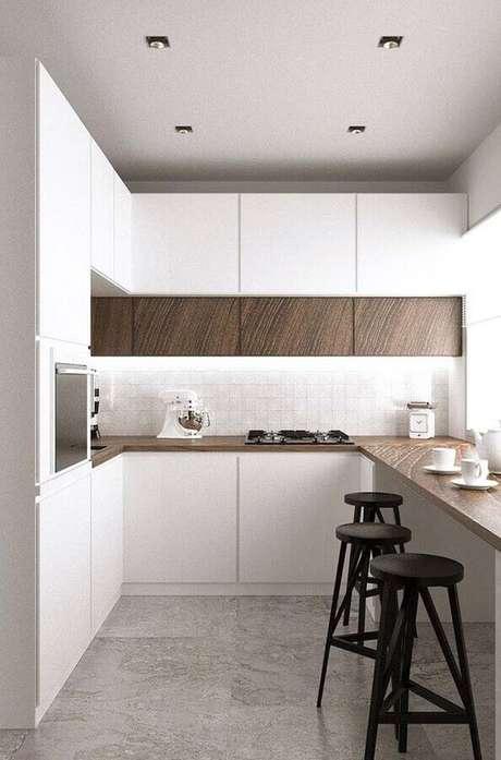 63. Armário de cozinha pequena – Via: Revista VD