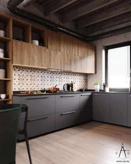 68. Armário de cozinha industrial – Via: No Decora