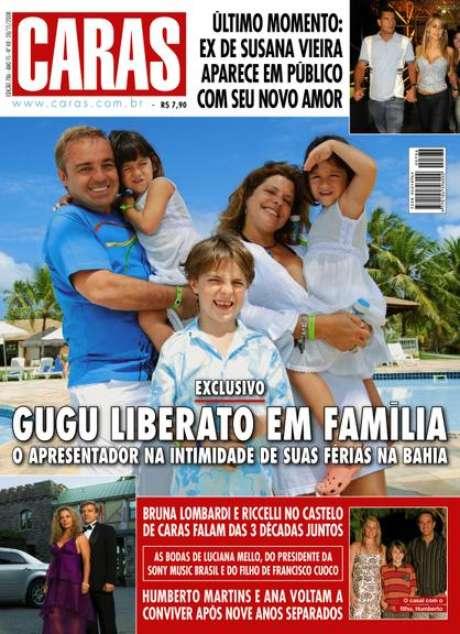 Gugu e Rose posaram várias vezes com os filhos para a revista Caras: a família perfeita se desfez