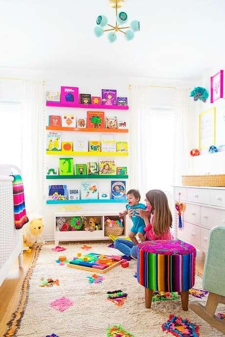 41. Brinquedoteca de quarto infantil criativa – Foto: Project Nursery