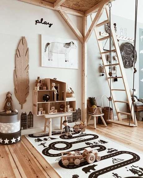 50. Brinquedoteca em casa, neutra e criativa para crianças – Foto: Casa Vogue