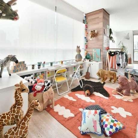 52. Ambiente criativo com brinquedoteca – Foto: Gabi Work