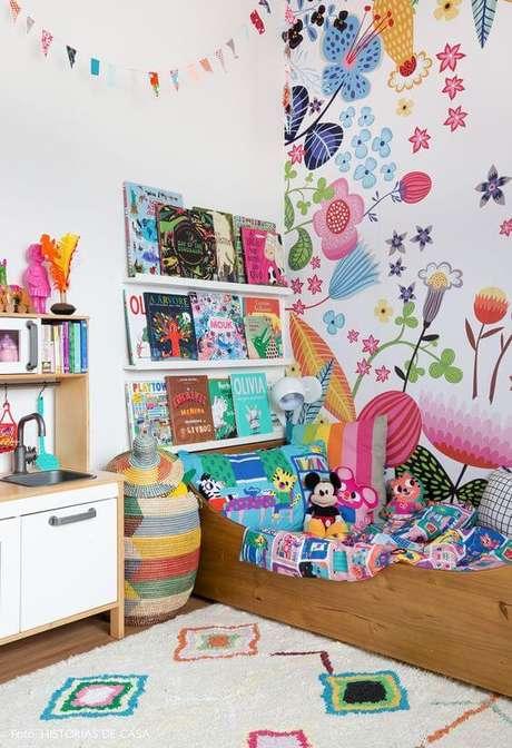 66. Brinquedoteca infantil no quarto – Foto: Histórias de Casa