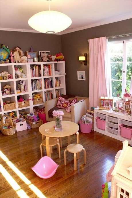 10. Brinquedoteca cor de rosa – Via: Pinterest