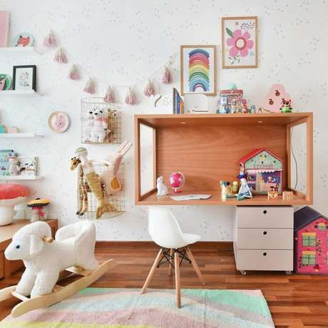 13. Brinquedoteca simples e bonita – Foto: Hana Lerner Arquitetura