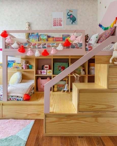 5. Faça a brinquedoteca de móveis planejados – Via: Uebba Design