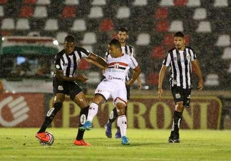 Na última vez que se enfrentaram o Botafogo-SP goleou o Santos em 4 a 0(Foto: Célio Messias/UAI Foto/Lancepress!)