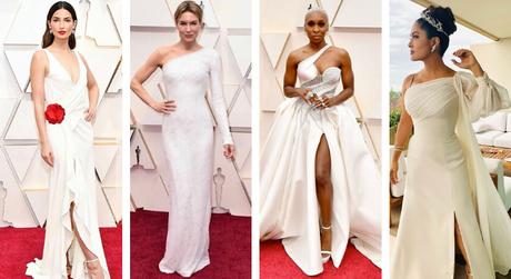 Atrizes apostam em branco no Oscar (Fotos: Divulgação/Versace/Reprodução/@instagram)