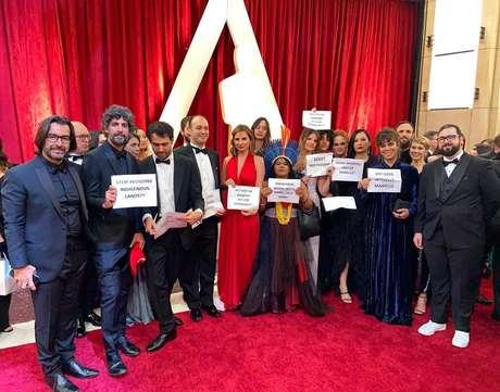 Petra Costa e documentaristas de 'Democracia em Vertigem' protestaram no Oscar 2020