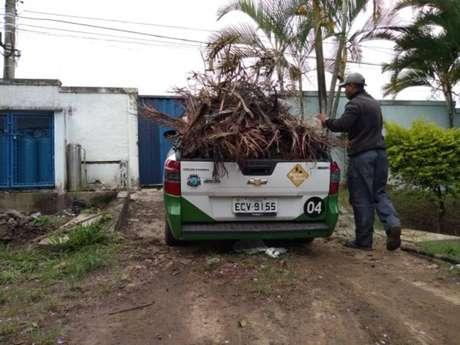 Prefeitura inicia limpeza no bairro de Bananal, em Cambreúva