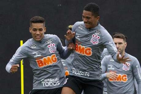 Pedrinho fez seu primeiro treino no Corinthians em 2020 (Daniel Augusto Jr./ Agência Corinthians)