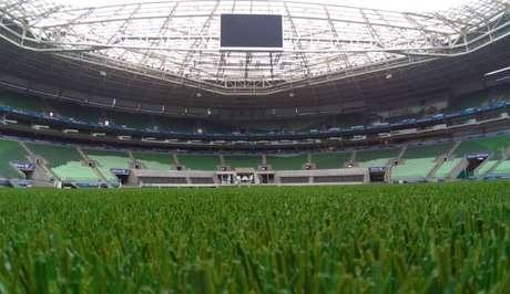 O novo gramado do Allianz receberá o jogo entre Palmeiras e Mirassol (Foto: Reprodução/Twitter)