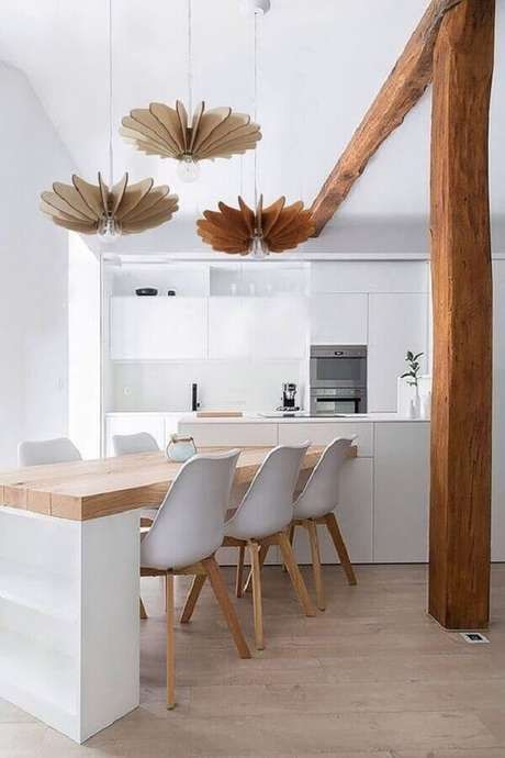 13. Modelo de cadeira branca para decoração clean – Foto: Etsy