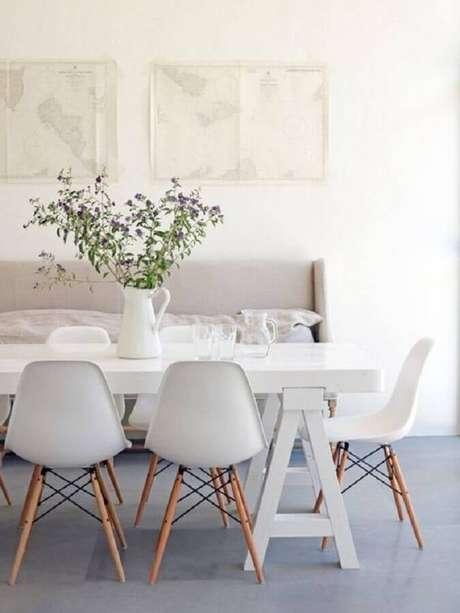 40. A cadeira eames branca é super tendência de decoração – Foto: Diycore