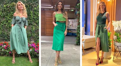 Famosas vestem saia verde (Fotos: Instagram/Reprodução)