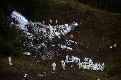 Tragédia do avião da LaMia, que transportava a delegação da Chapecoense, ocorreu em 2016 (Raul Arboleda/AFP)