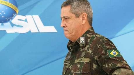 Braga Netto em foto de fevereiro de 2018, na ocasião da intervenção federal na segurança do Rio, no governo Temer