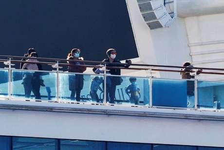 Cruzeiro Diamond Princess, em quarentena em porto de Yokohama, Japão 13/02/2020 REUTERS/Kim Kyung-Hoon