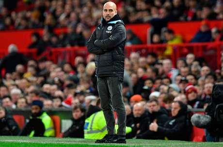 Guardiola pensa que, em caso de fracasso na Liga dos Campeões, esta pode ser sua última temporada no Manchester City (Foto: PAUL ELLIS / AFP)