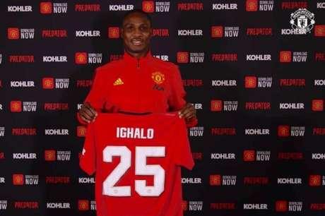 Ighalo chegou ao Manchester United por empréstimo até o final desta temporada (Divulgação / Man Utd)