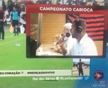 Comentário durante o clássico entre Flamengo e Fluminense foi repreendido pelo clube da Gávea (Foto: FlaTV)