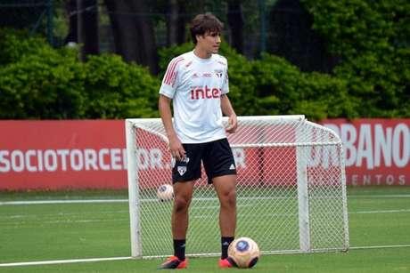 Igor Gomes já treina com o São Paulo desde a última quarta-feira no CT do clube (Foto: Érico Leonan/saopaulofc.net)