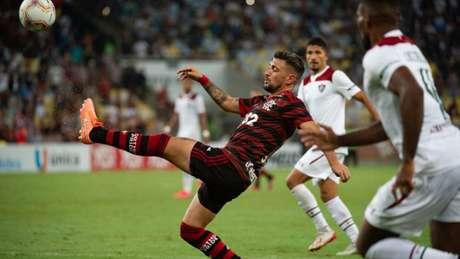 Arrascaeta atuou durante 81 minutos contra o Fluminense (Foto: Alexandre Vidal / Flamengo)