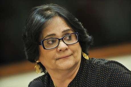 A ministra da Mulher, Família e Direitos Humanos, Damares Alves.