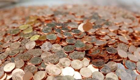 Moedas de um centavo de euro são vistas na sede da Casa da Moeda da Áustria, em Viena 23/04/2013 REUTERS/Leonhard Foeger