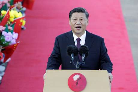 Presidente da China, Xi Jinping, discursa após chegada a Macau, China 18/12/2020 REUTERS/Jason Lee