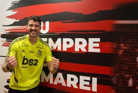 O treinador Jorge Jesus poderá contar com o zagueiro Gustavo Henrique na final de domingo (Alexandre Vidal / Flamengo)