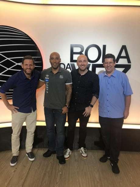 Edinho participou do programa 'Bola da Vez' com André Plihal, Gustavo Zupak e Celso Unzelte (Reprodução/ESPN)