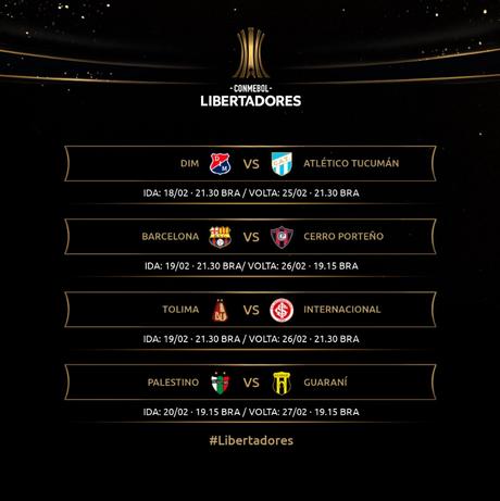 Todos os duelos da terceira fase da Pré-Libertadores. Foto: Divulgação/Libertadores