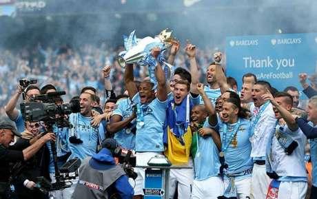 Manchester City foi campeão inglês na temporada 2013/2014 (Foto: Facebook)