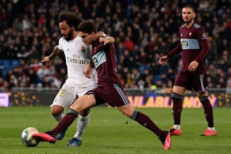 Marcelo foi titular do Real Madrid neste domingo (foto: AFP)