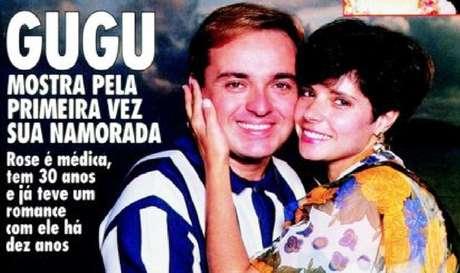 Gugu e Rose na capa da Caras em 1994: um romance de conto de fadas na visão do público