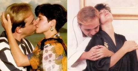 O ensaio fotográfico de Gugu e Rose para a matéria na Caras, há 25 anos, teve beijo na boca e pose sensual