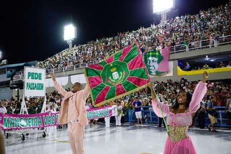 Ensaio técnico da Estação Primeira de Mangueira para o Carnaval 2020, no sambódromo da Marquês de Sapucaí, no Rio de Janeiro (RJ), neste domingo (16)