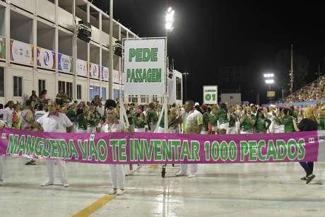 Ensaio técnico da Tom Maior para o desfile no Grupo Especial do Carnaval de São Paulo 2020, no sambódromo do Anhembi, no dia 9 de fevereiro